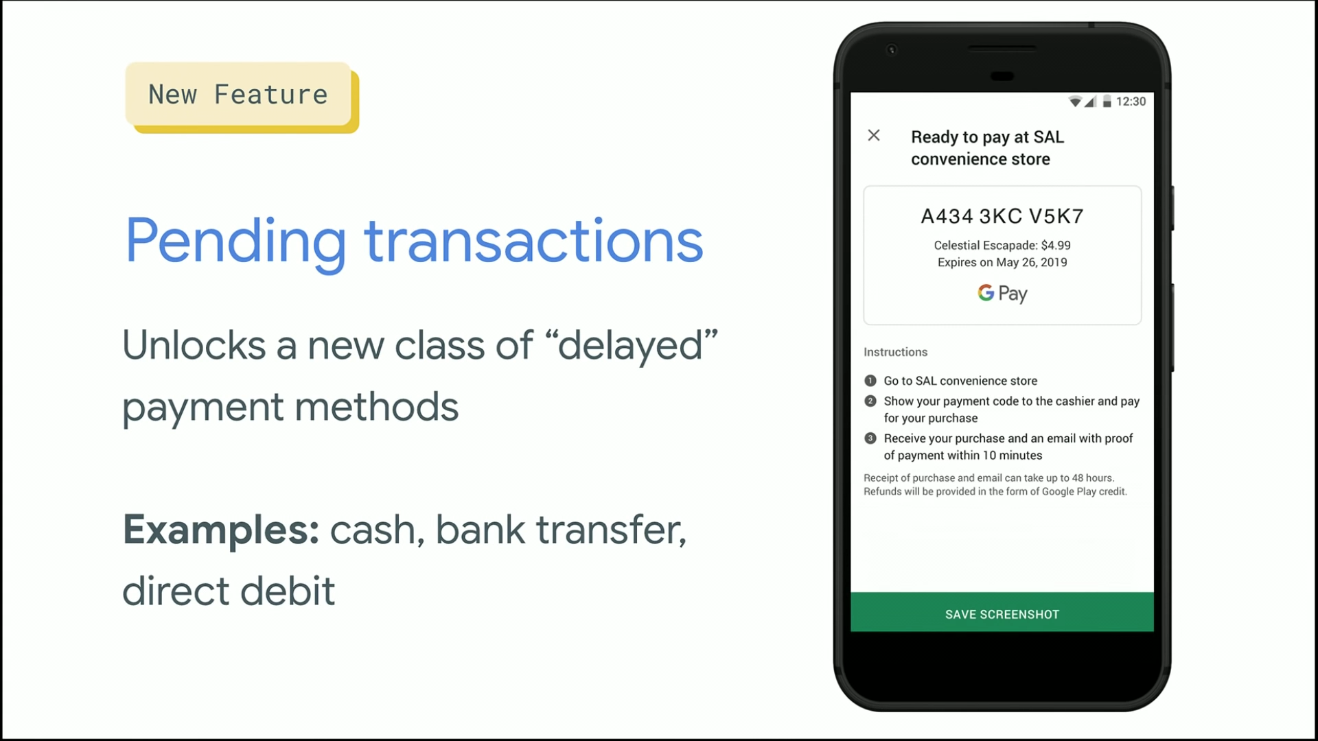 The Play Store gives users a new cash payment option