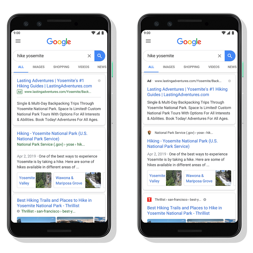 Google search results on mobile now placing URLs above page titles