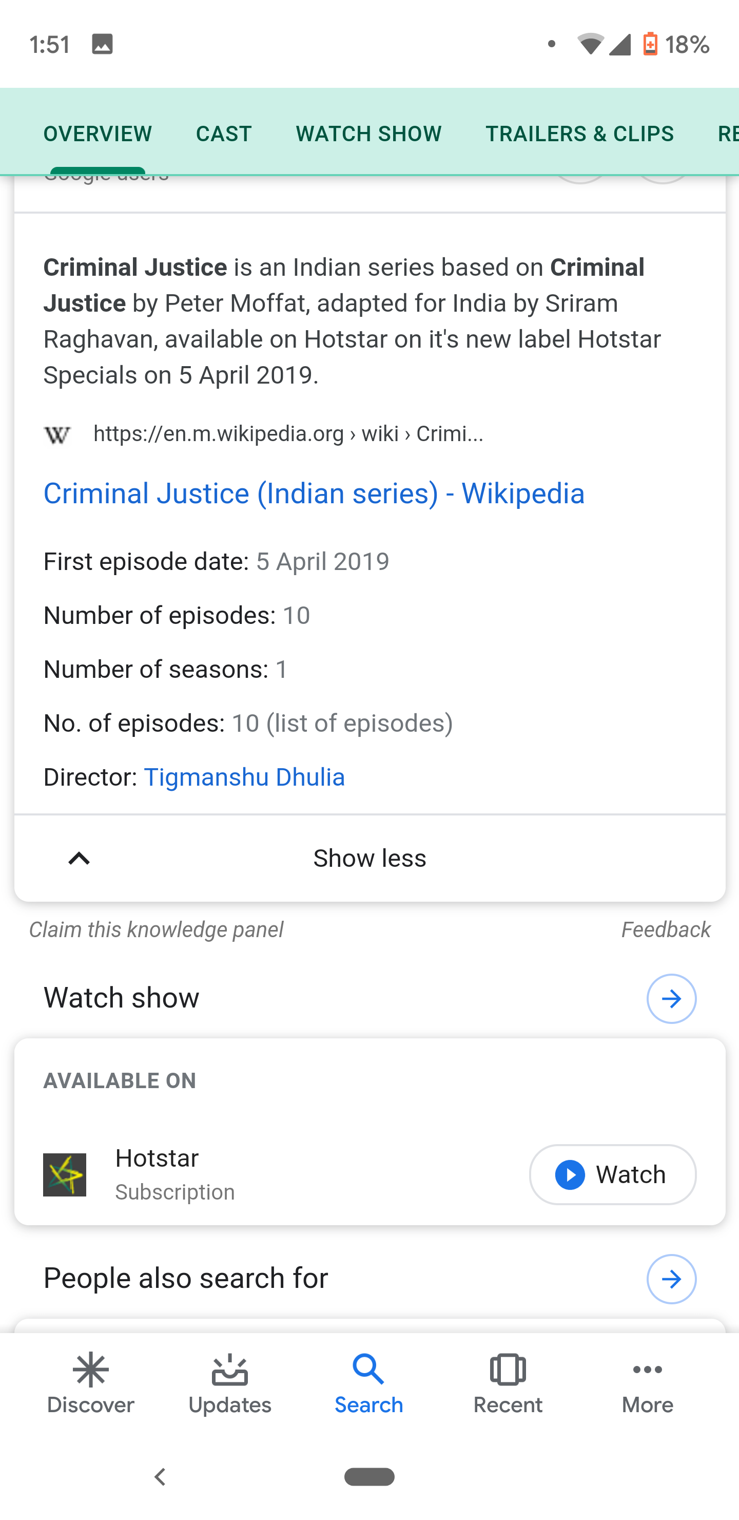 How to Google all the streaming services that have a movie or TV series