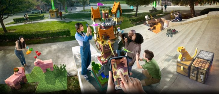 [Update: New beta footage] Minecraft Earth is bringing its AR world-building to Android this summer as closed beta