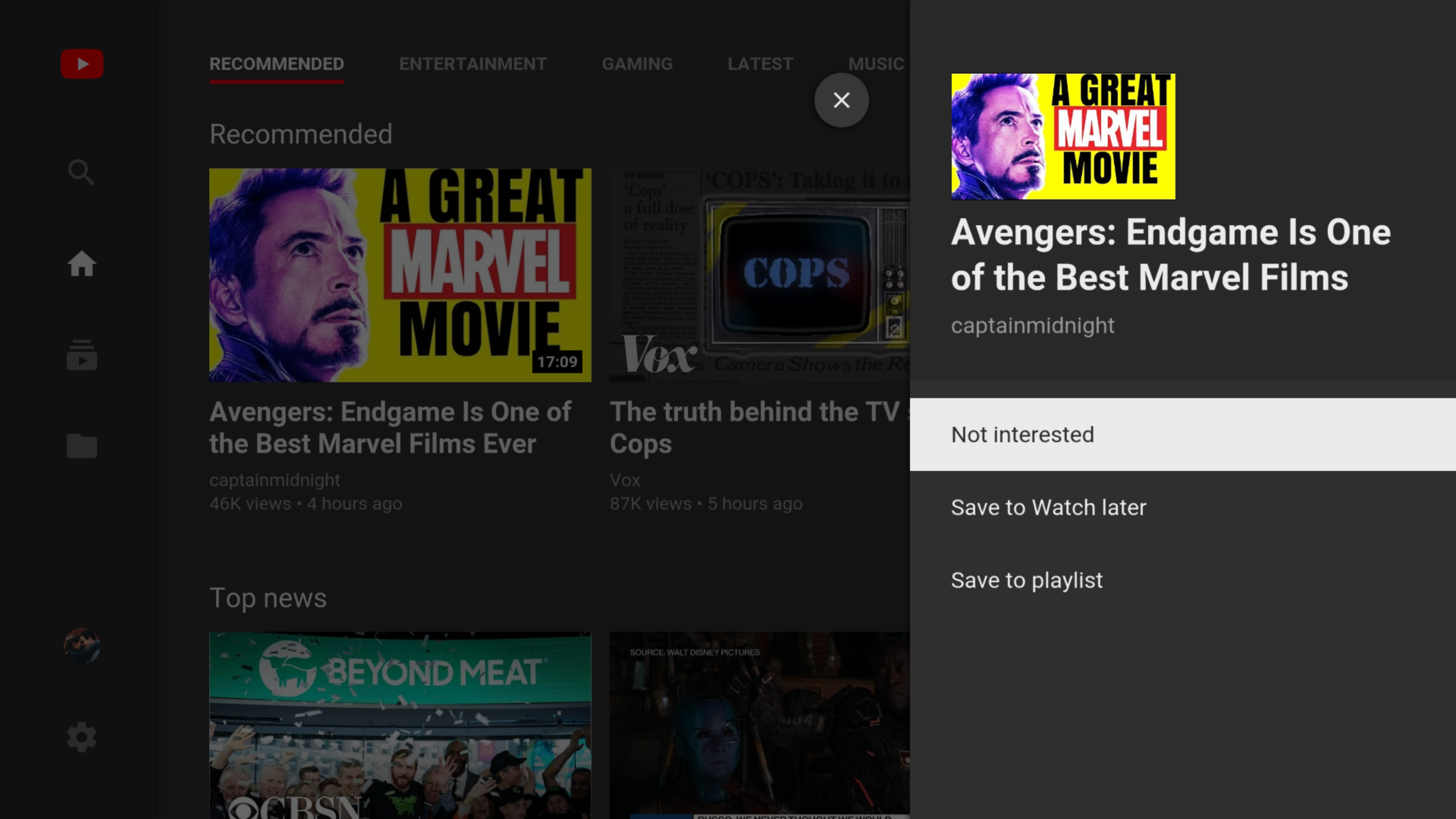 YouTube on TV finally lets you save videos to watch later or