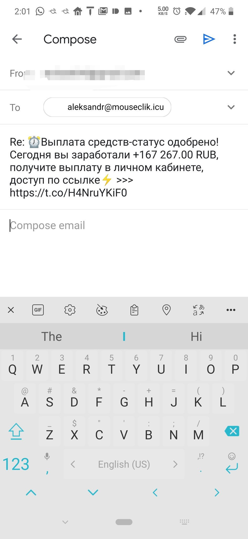 Phishing attacks taking advantage of automatic Google