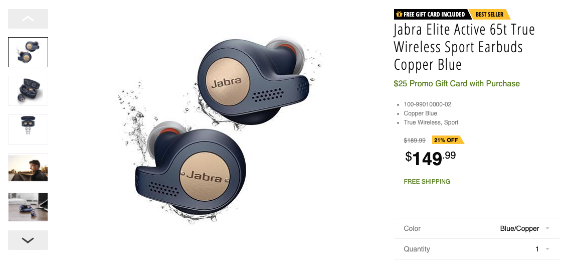Jabra S Highly Regarded True Wireless Earbuds Are Down To 150 Plus A 25 Gift Card