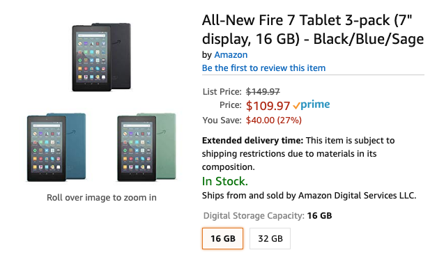 Kindle Fire 7 is down to $36 apiece in 3-pack deal, just in time for