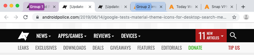 Google Chrome desktop's Tab Groups feature gets colorful, Send to