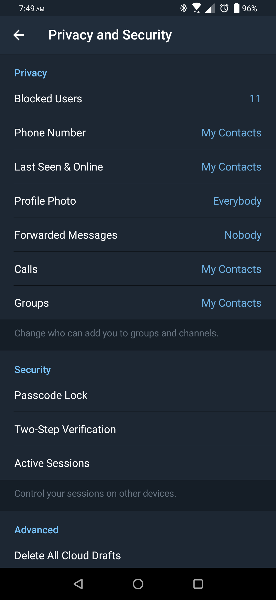 Telegram 5 7 further enhances privacy, improves group and