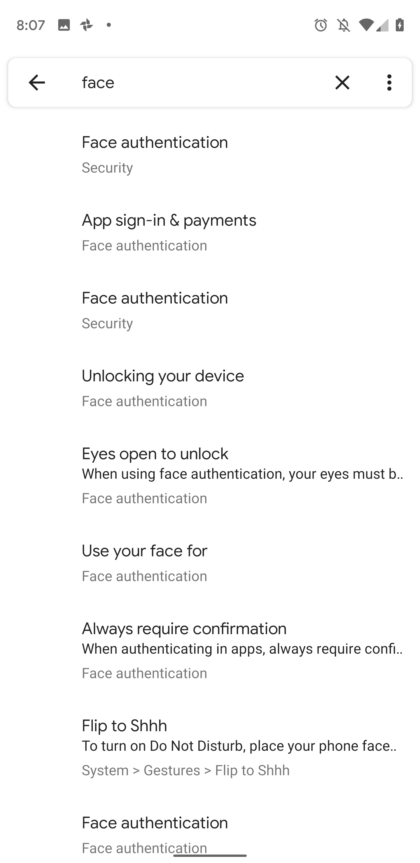 Face authentication' details in Android Q Beta 4 tease