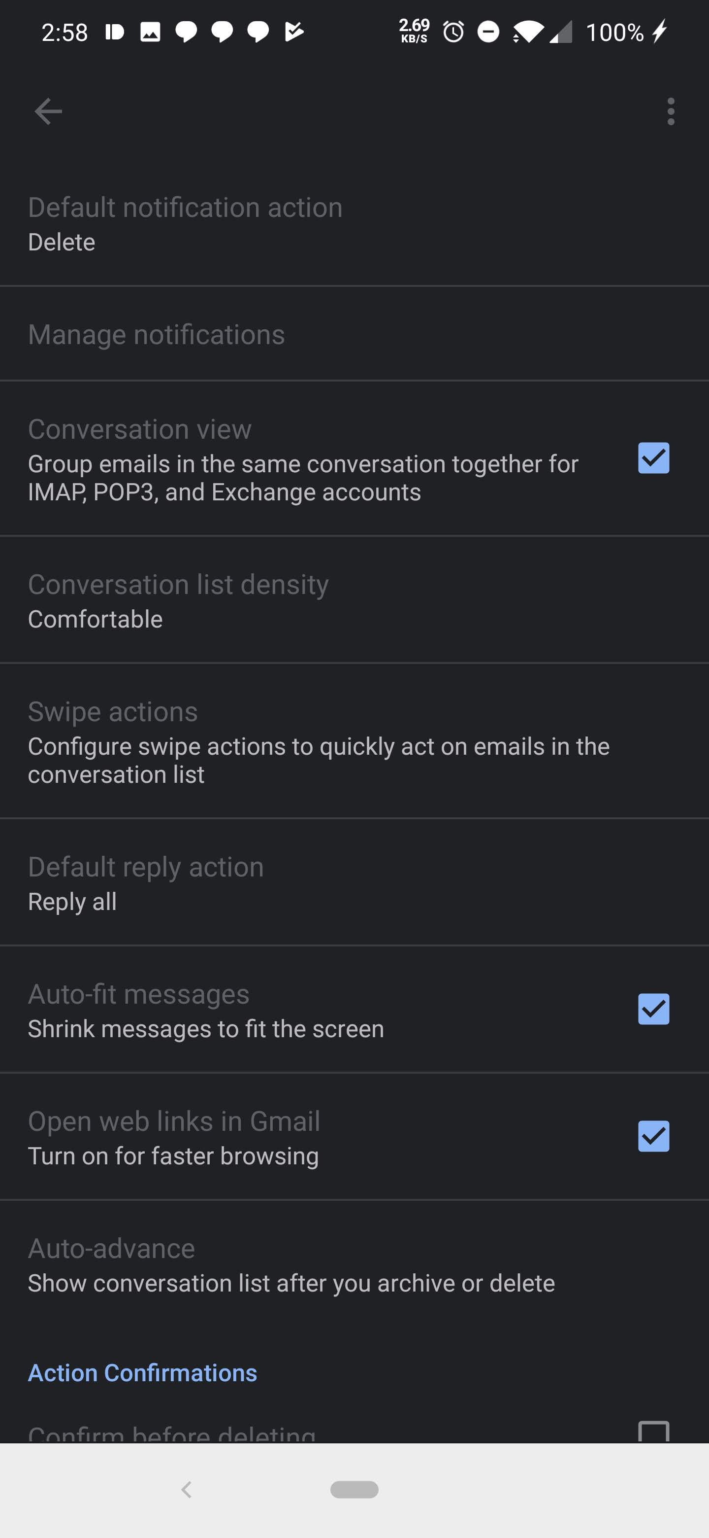 Gmail for Android starts getting first bits of dark mode