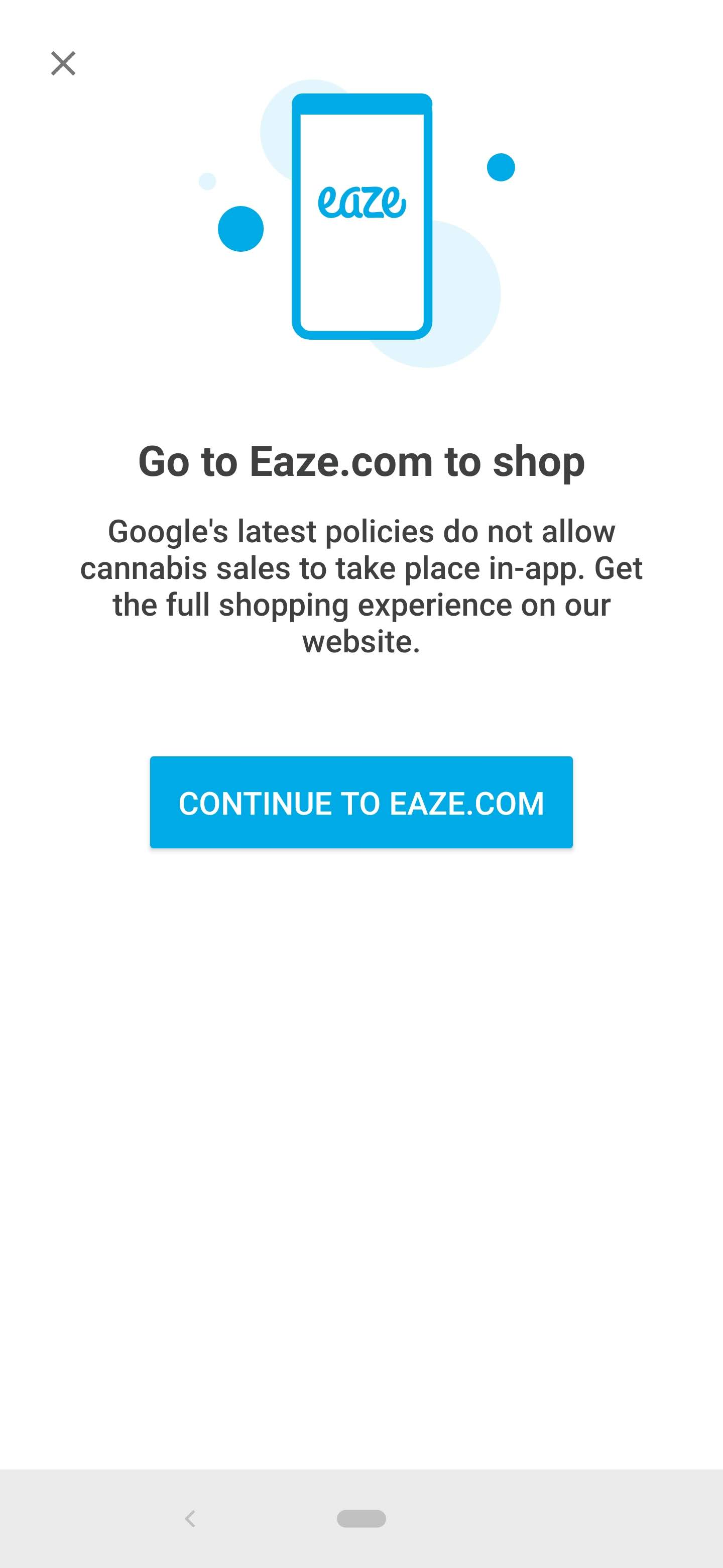 Eaze removes in-app purchases following Google ban on