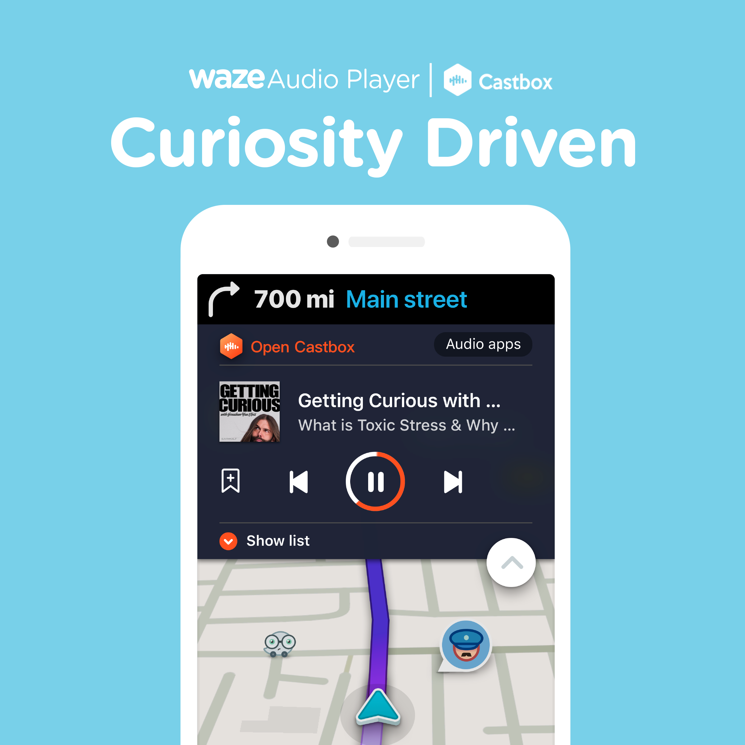Waze teams up with Castbox to offer a dedicated podcast