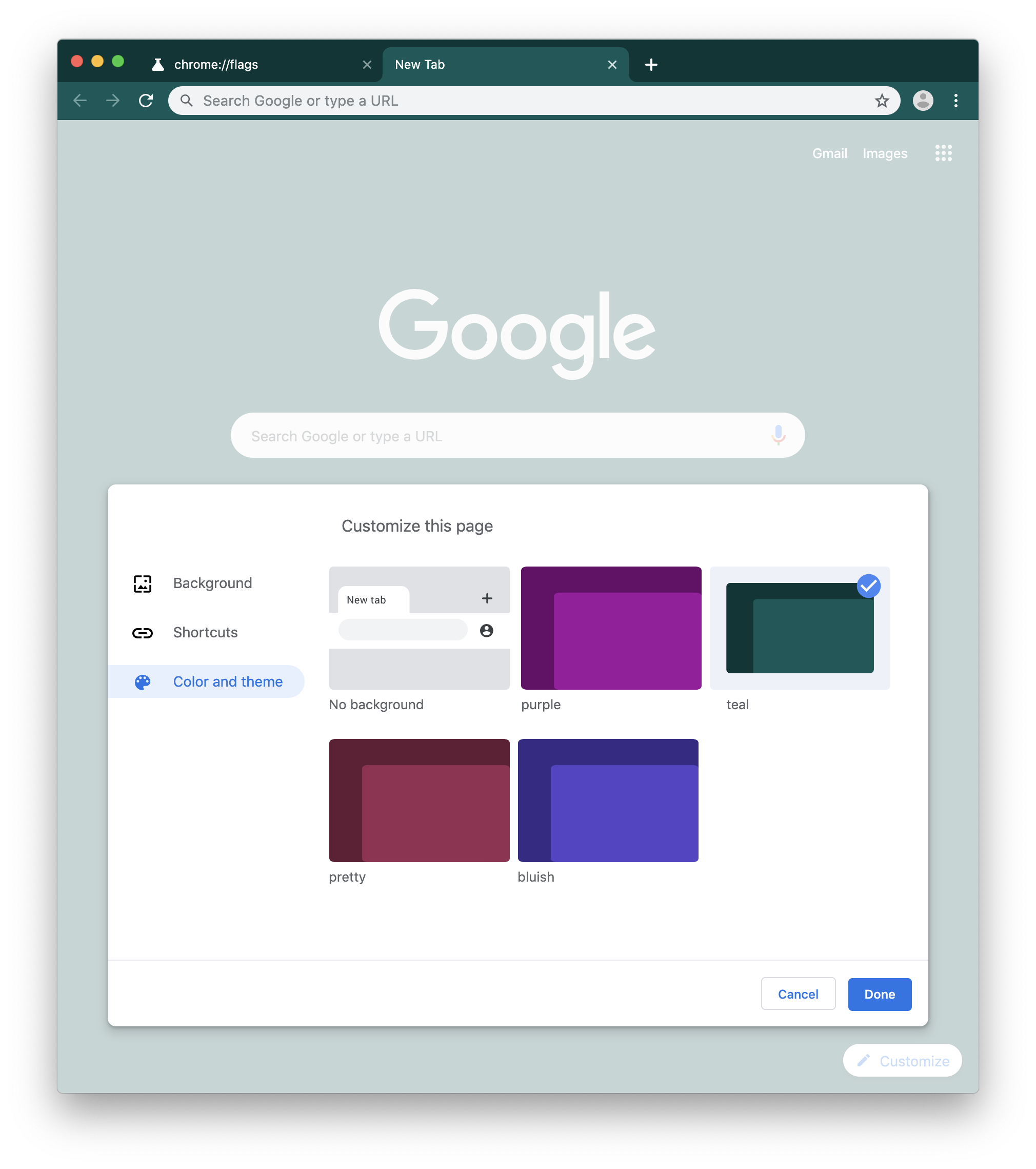 Update: More themes, improved interface] Chrome Canary 77 adds