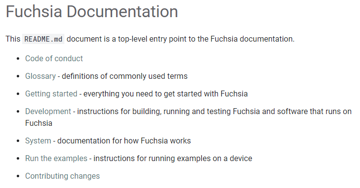 Official Fuchsia developer site goes live