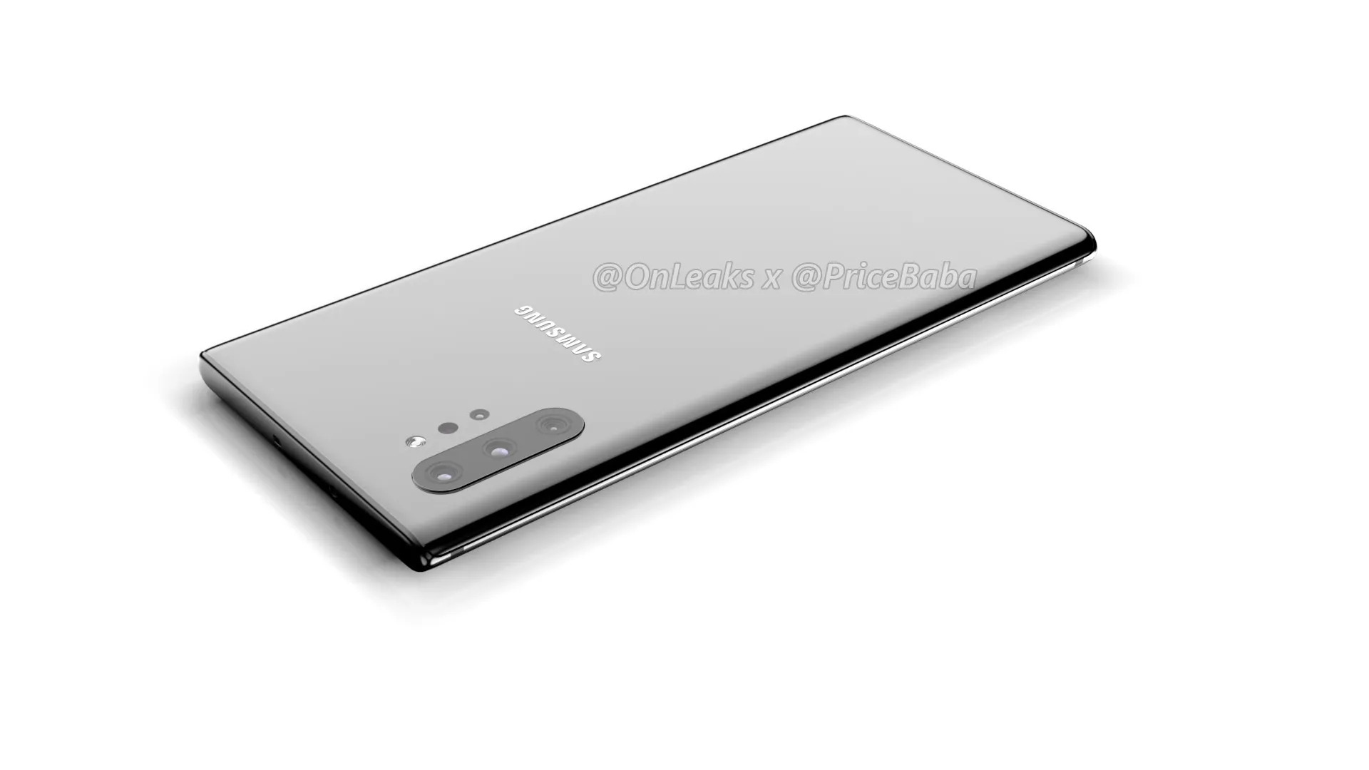 First Galaxy Note 10 Pro render shows four rear cameras and 6 75