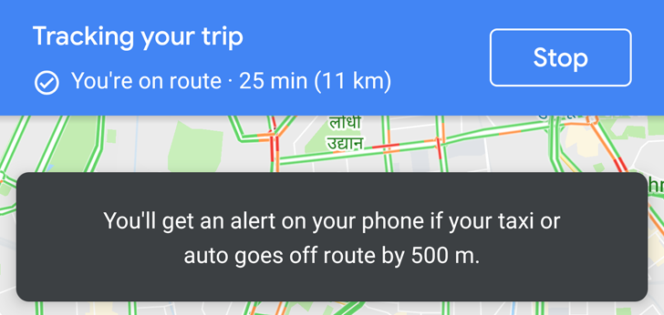 Update: Official] Google Maps keeps you safe by alerting you