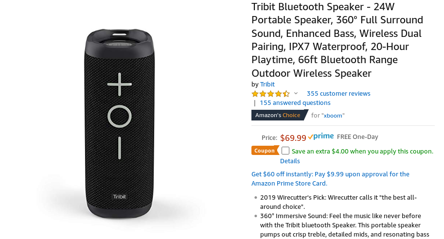 Tribit's 24W waterproof Bluetooth speaker is just $52 ($18 off)