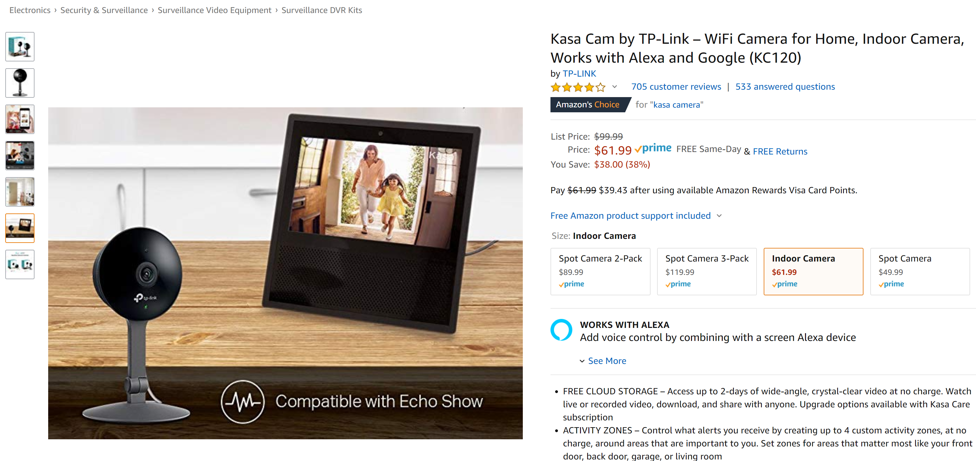 Get a Kasa Cam from TP-Link for just $62 ($38 off) right now