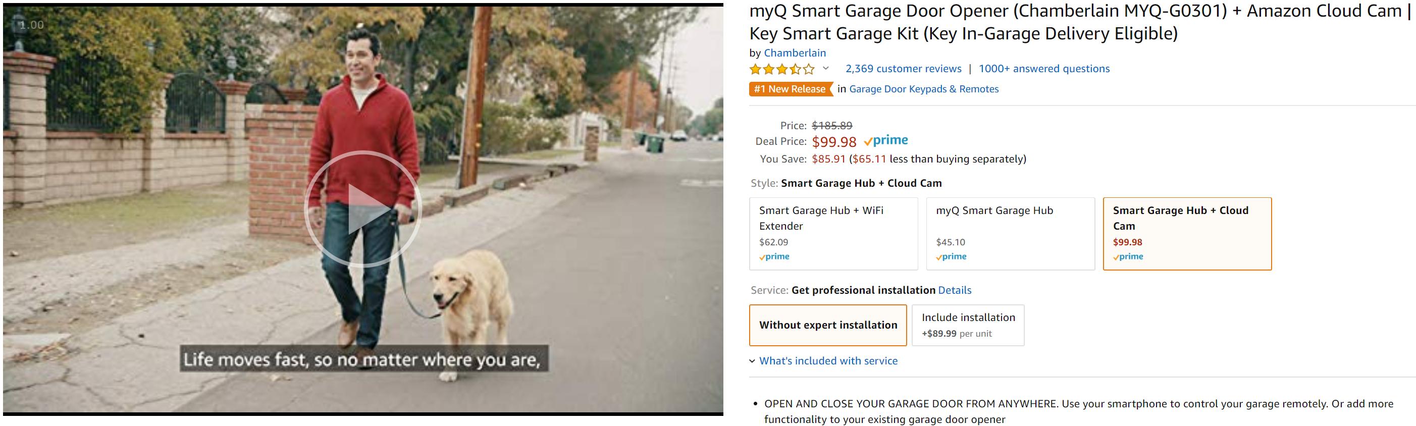 This Amazon myQ smart garage door bundle costs less than the