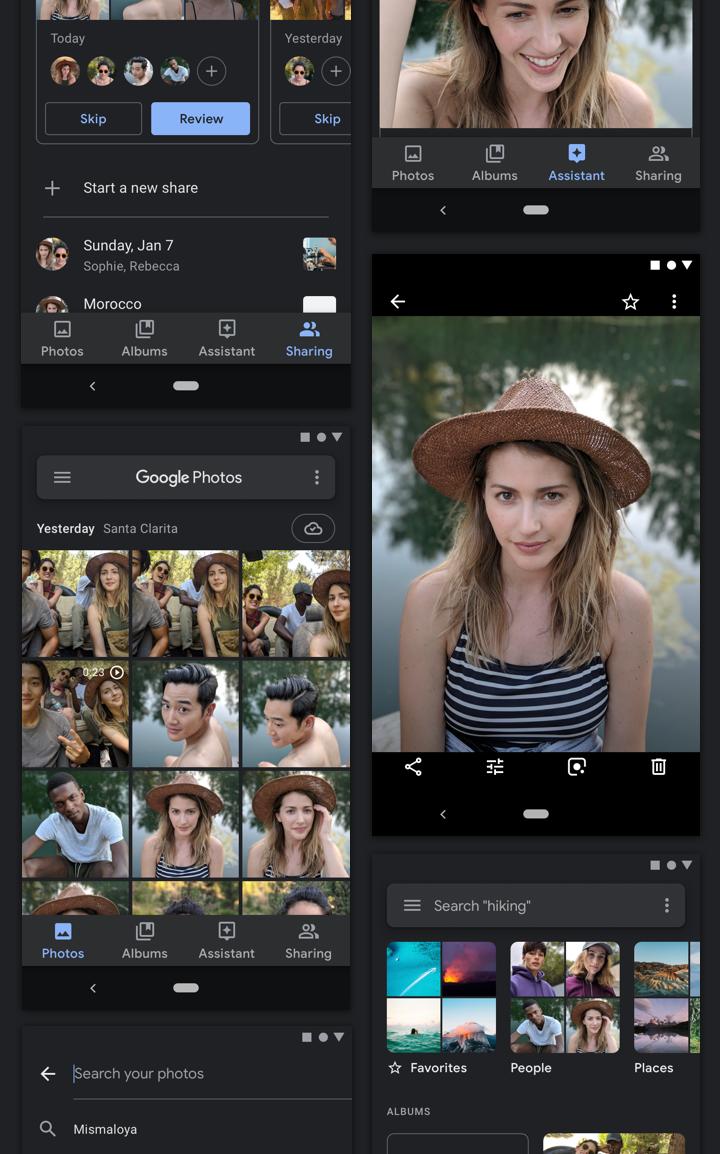 Google shares how it designed dark theme for Photos, Calendar, News