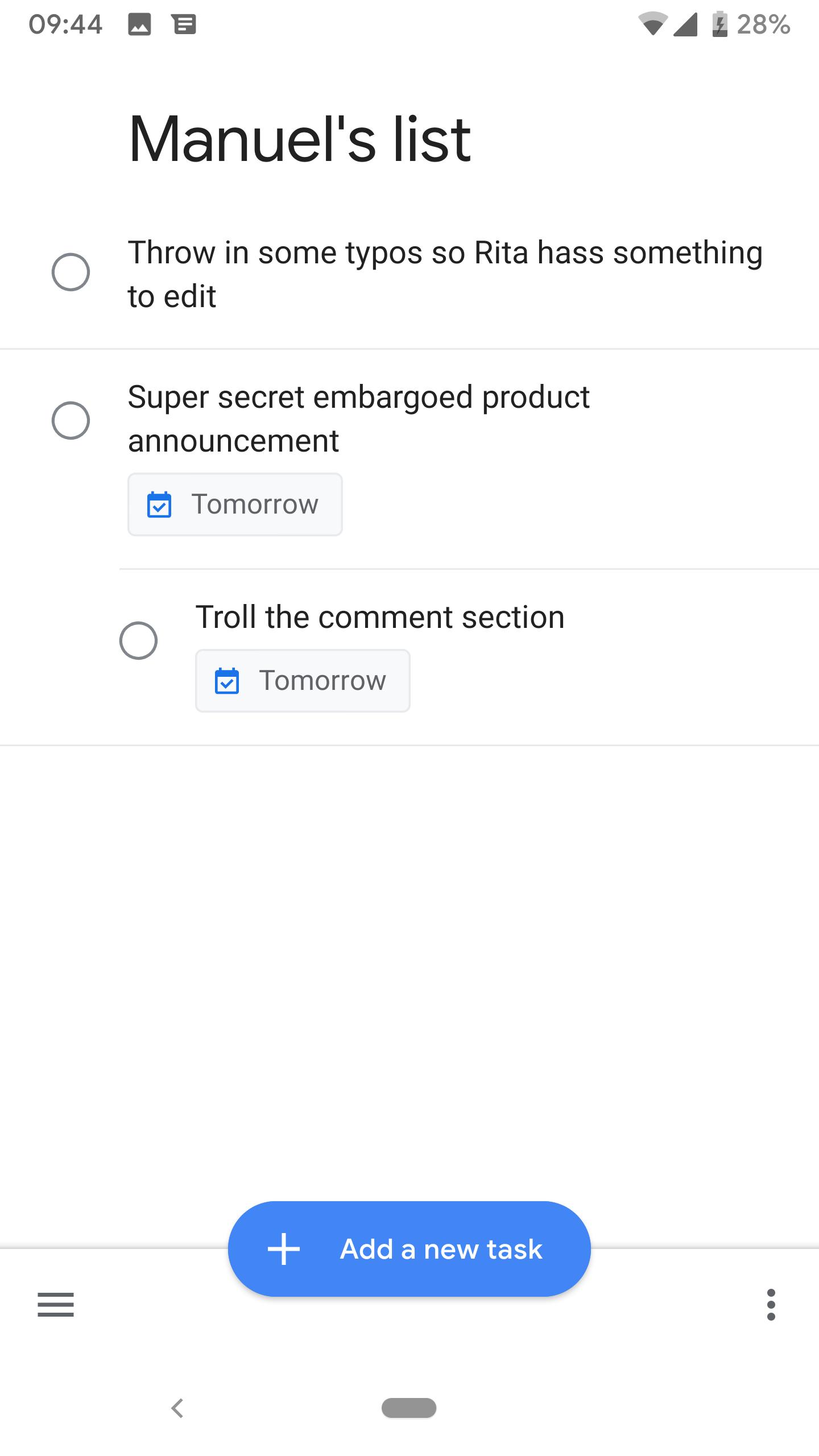 Google Tasks 1 6 gets new FAB, app shortcut, and rudimentary