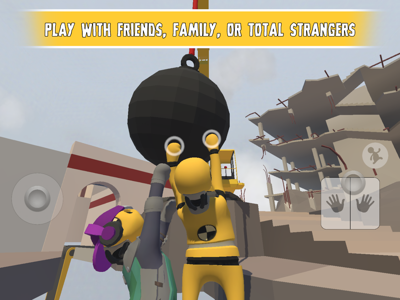 Human: Fall Flat is a chaotic physics-based puzzle game, and