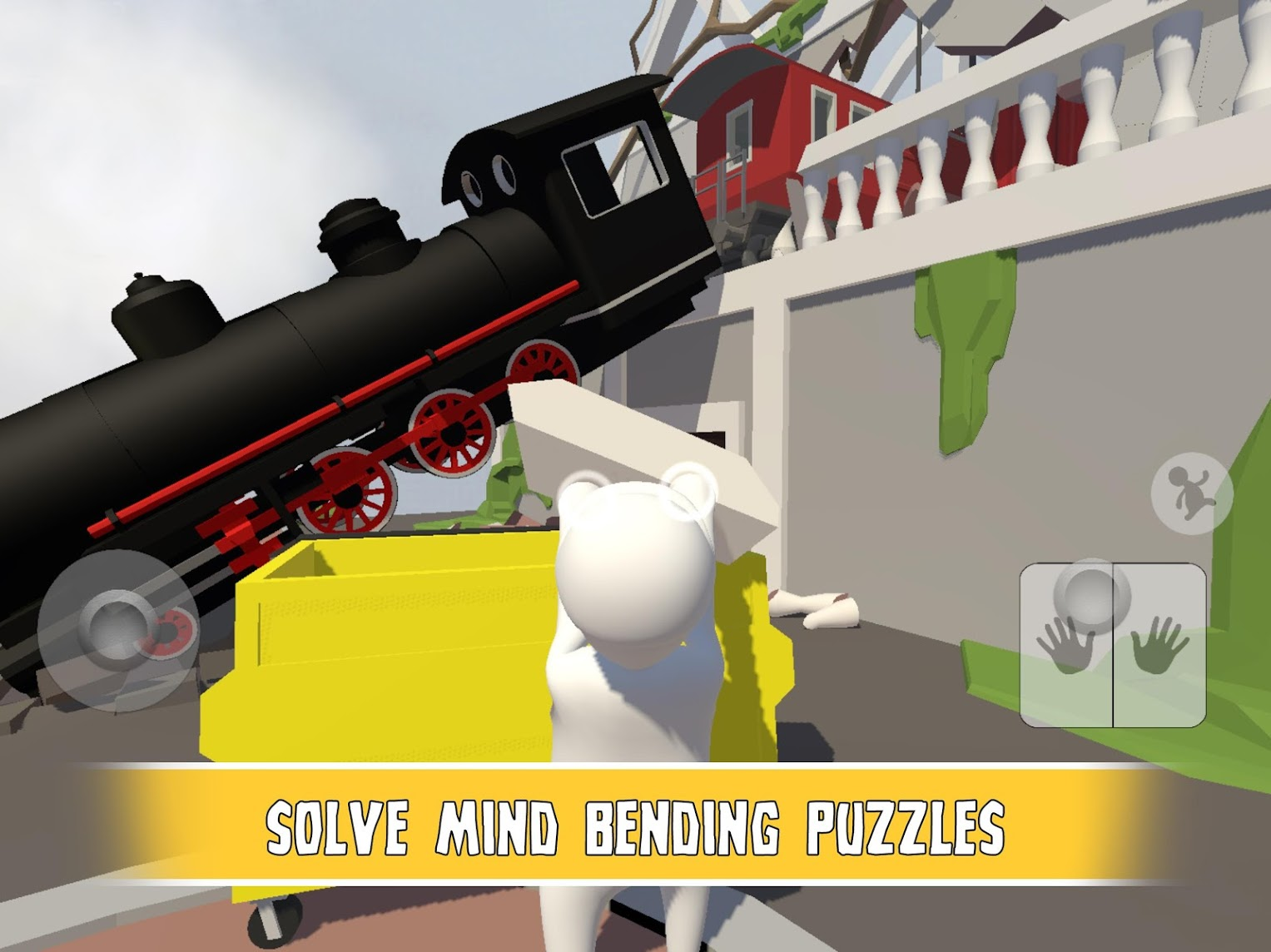 Human: Fall Flat is a chaotic physics-based puzzle game, and it just