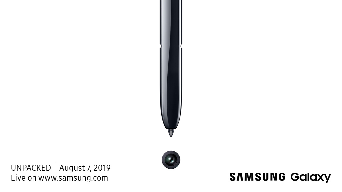 Samsung's Galaxy Note 10 Launch Event Is August 7