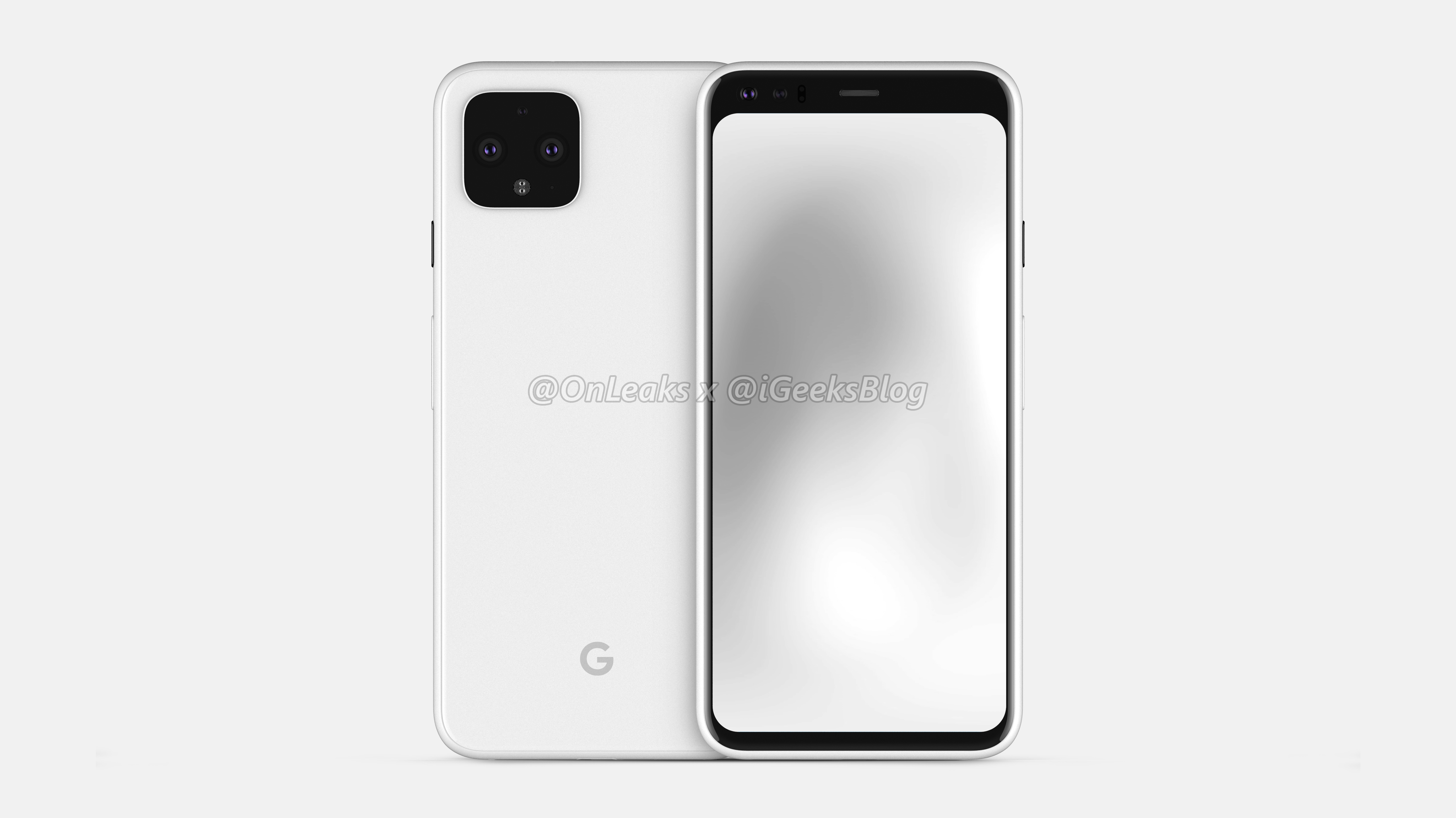 These are the first detailed renders of the small Pixel 4
