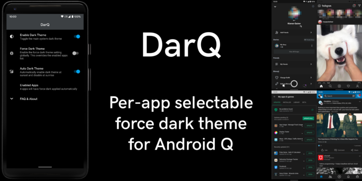 , DarQ lets you control dark mode on a per-app basis on rooted Android Q phones, Next TGP