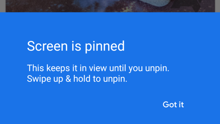 Screen pinning is now fixed and available when using gesture navigation on Android Q Beta 5