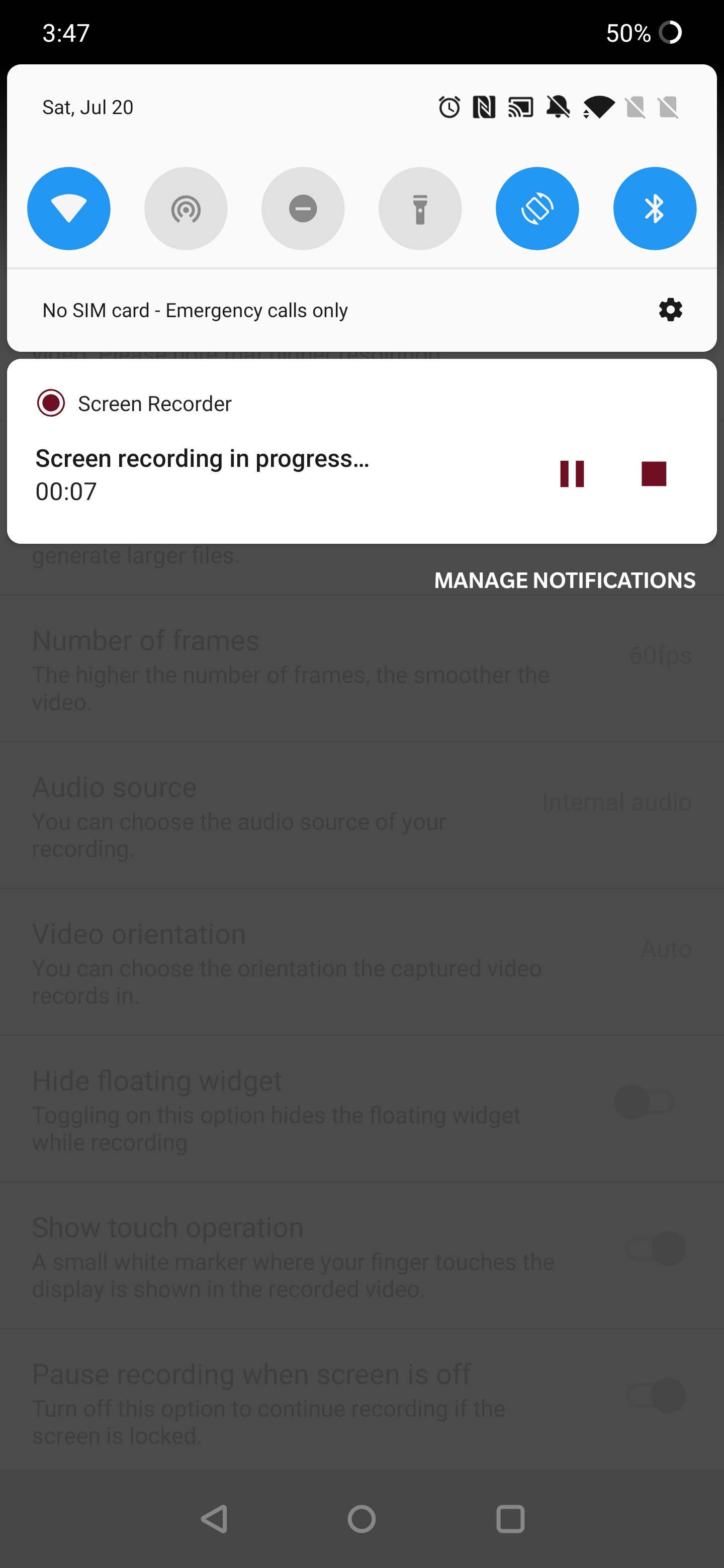 OnePlus Screen Recorder adds frame rate setting and floating
