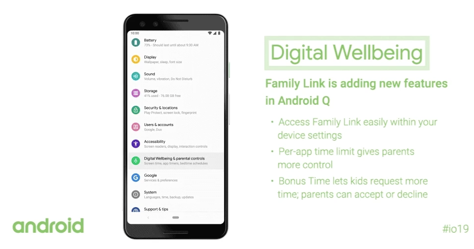 Android Q's parental controls are going live with latest Digital