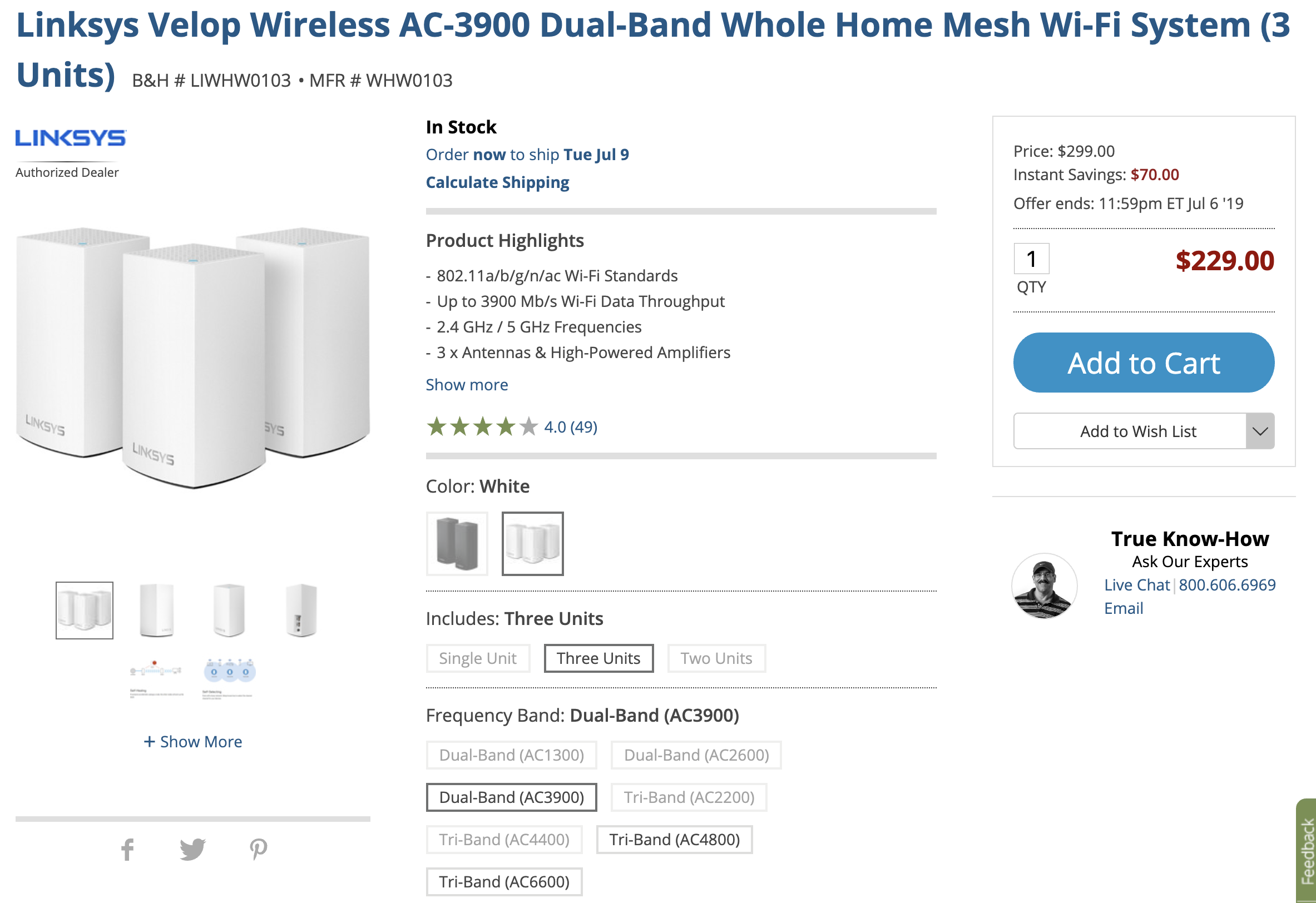 Google Wifi alternative Linksys Velop dual-band mesh router