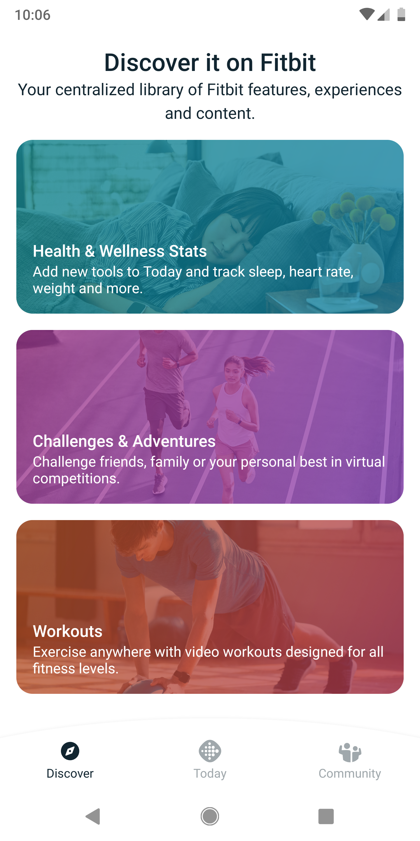 Fitbit testing new app UI with consolidated Today, Discover