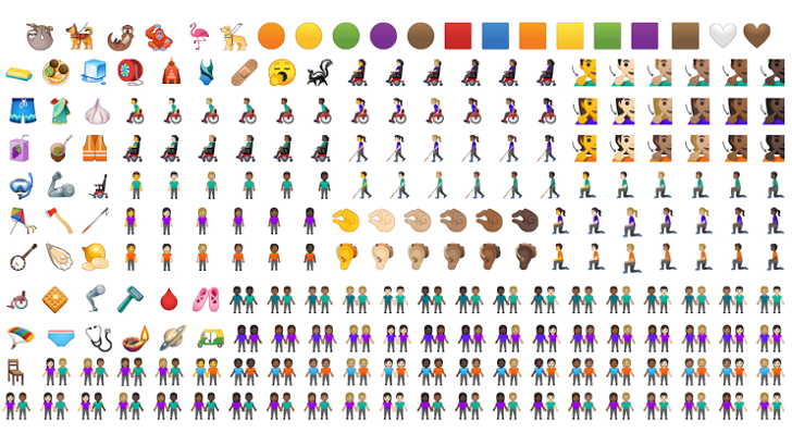 Google shows off its new emoji designs that will debut with Android Q