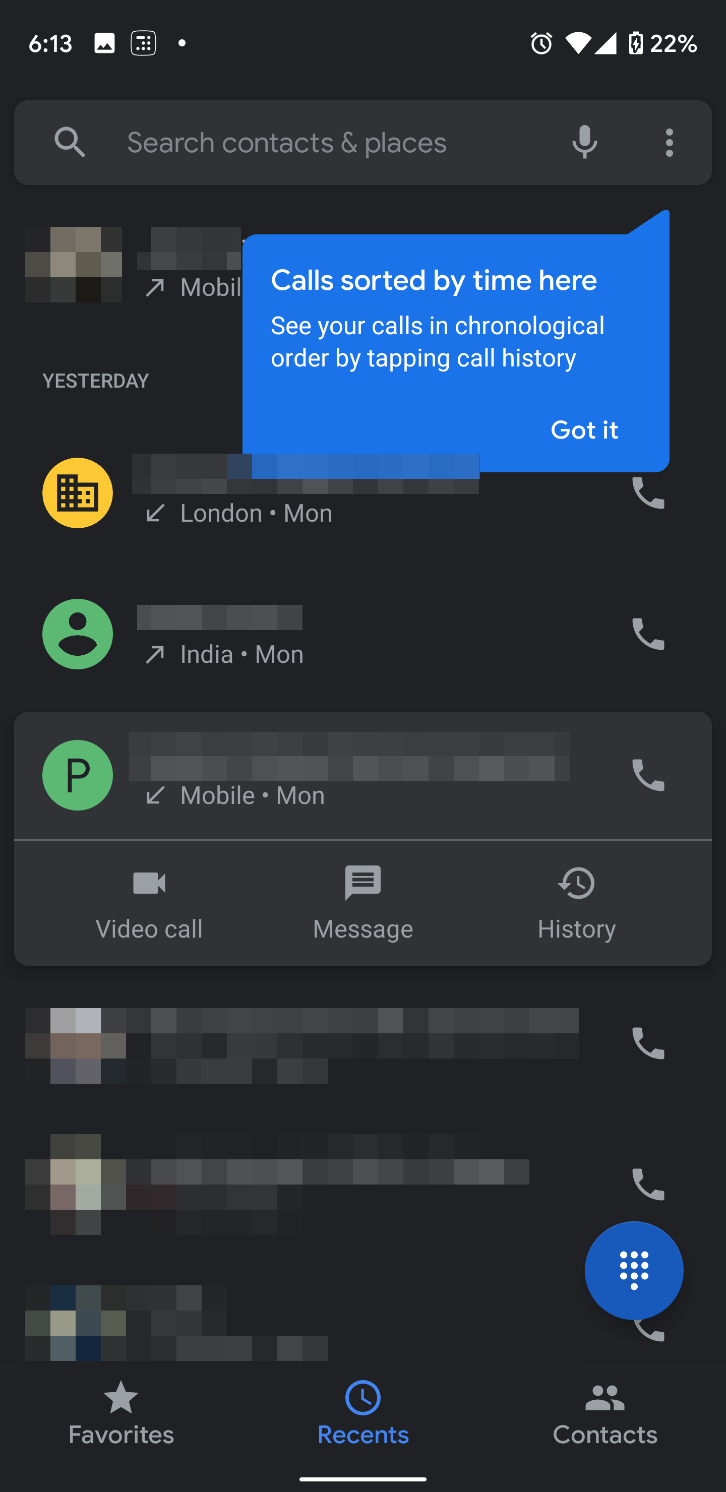 Google Phone v37 groups call history by contact, lets you swipe to