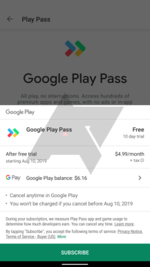 Google is quietly testing 'Play Pass' app and game subscription