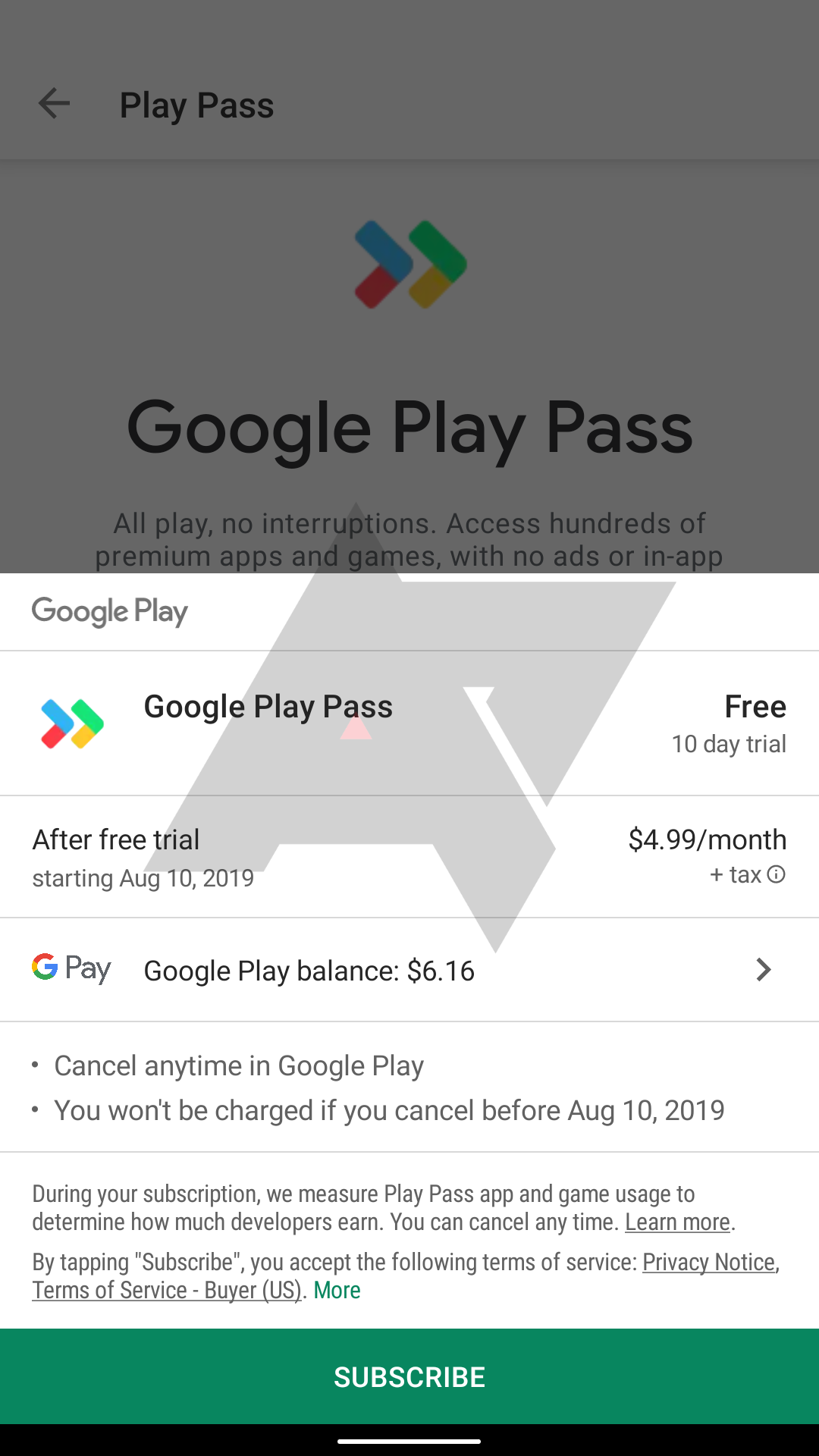 Google is quietly testing 'Play Pass' app and game