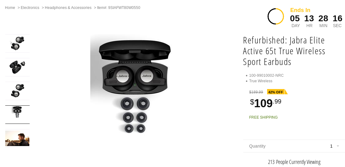 Grab A Pair Of Refurbished Jabra Elite Active 65t Wireless Earbuds For 110 80 Off