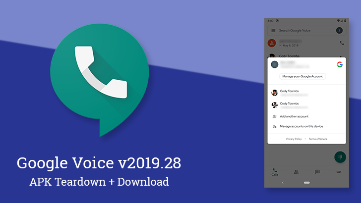 Google Voice v2019 28 prepares Driving Mode support, updates account