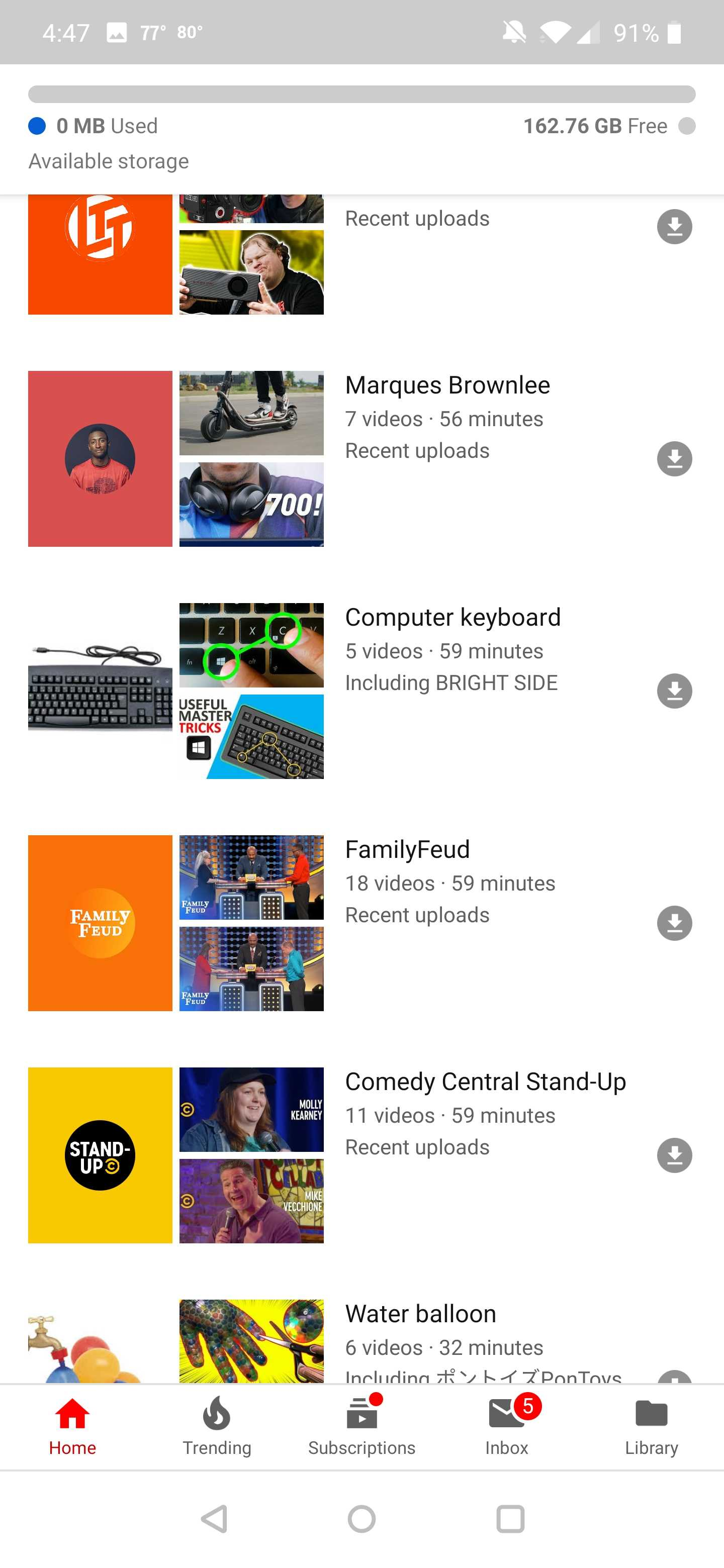 YouTube Premium lets you save recent channel and topic
