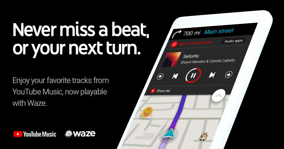 YouTube Music is now integrated in Waze