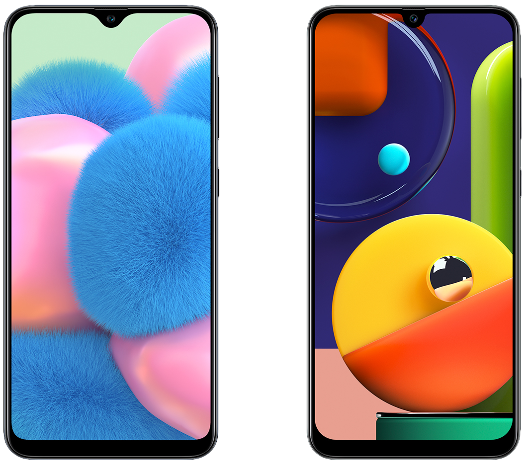 Samsung S Mid Range Galaxy A30s And A50s Flaunt Triple Rear Cameras In Display Fingerprint Scanners