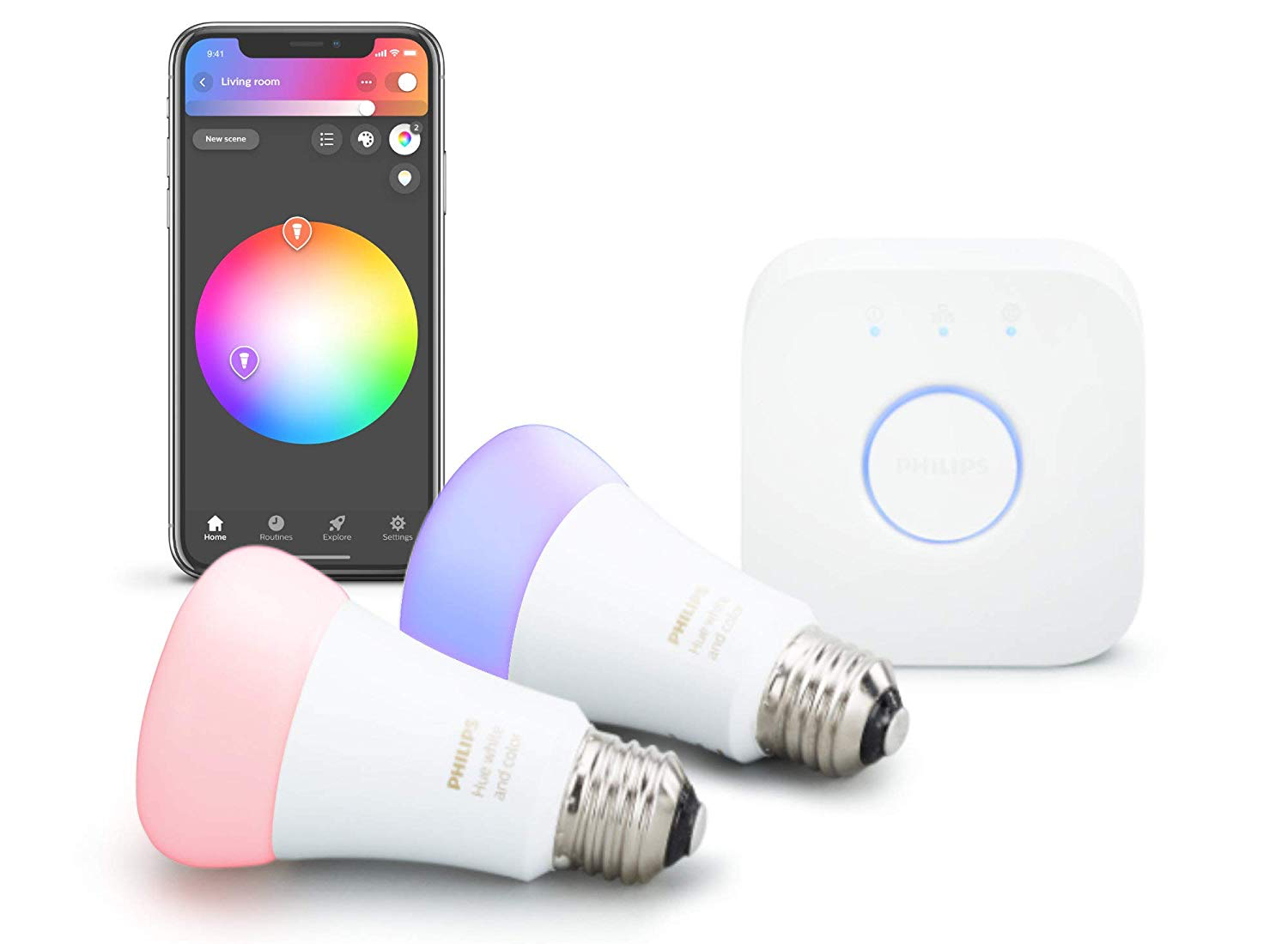 The Philips Hue 2-bulb color starter kit is almost 50% off on Amazon at just $78