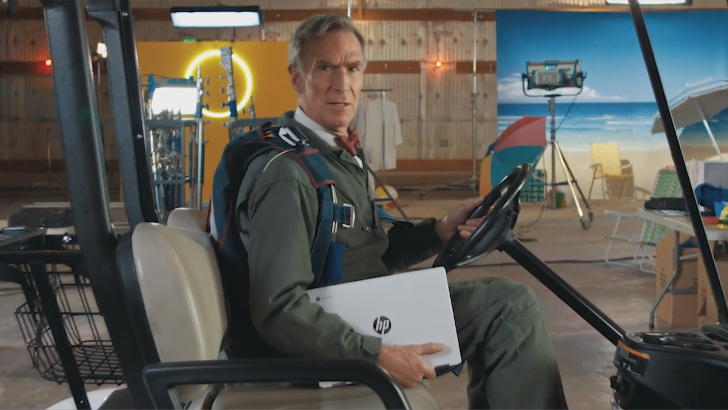 Watch Bill Nye become the Chromebook Guy in this Google ad