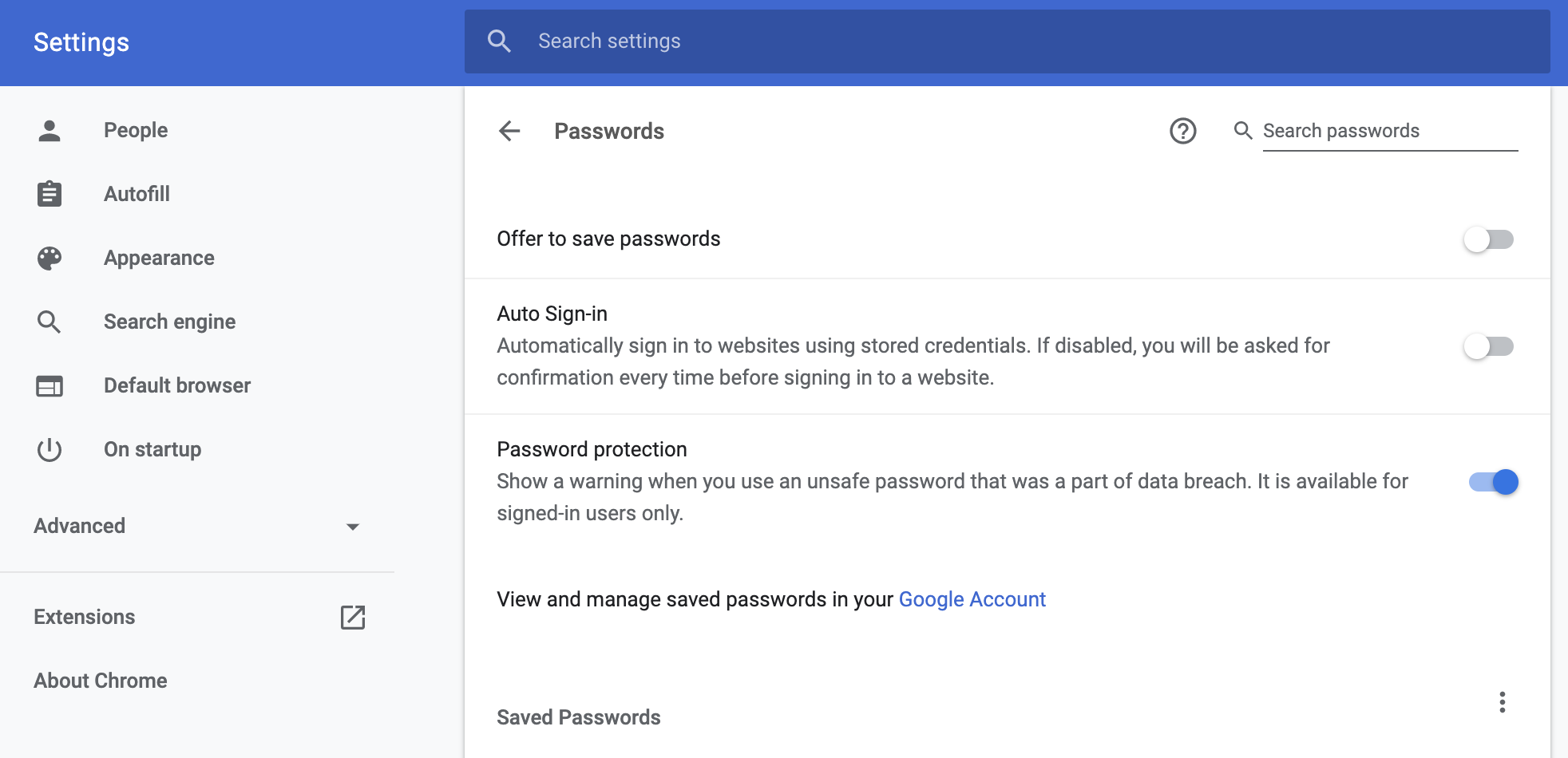 Google Chrome is preparing native password leak detection