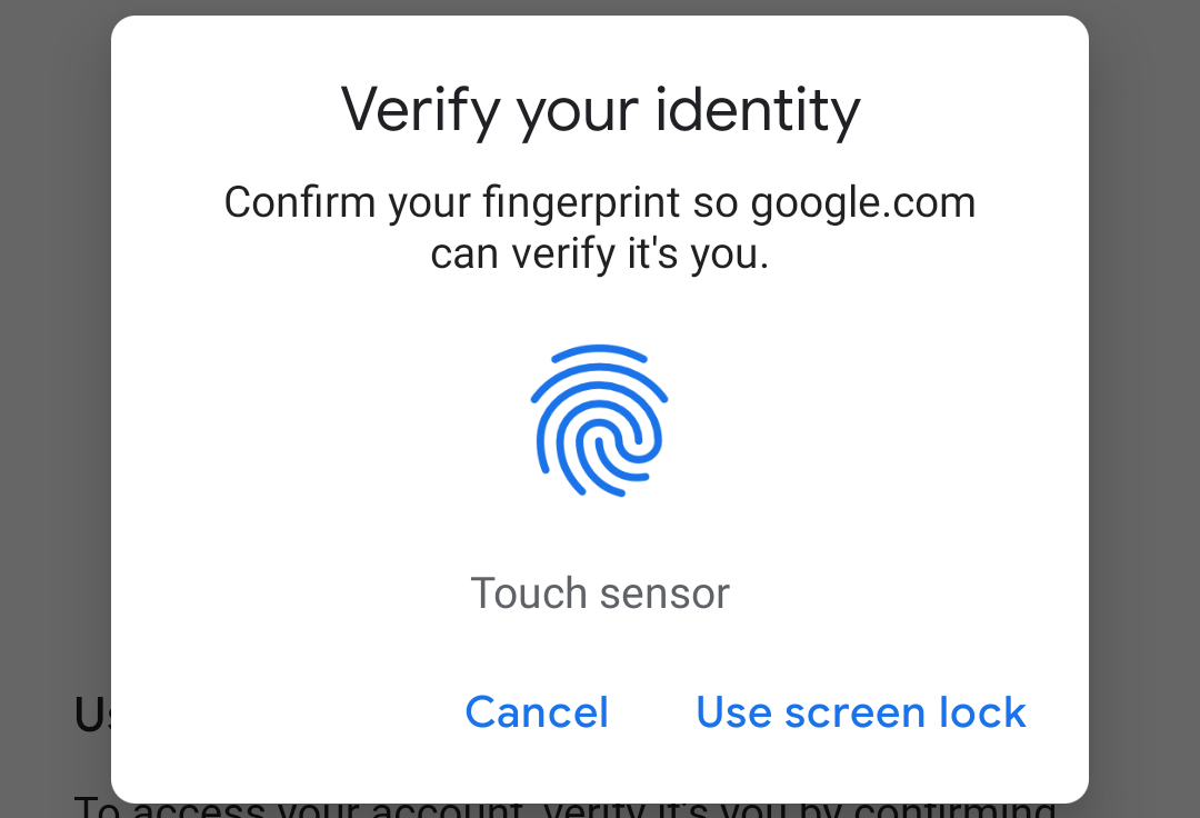 Your phone can now verify you in Google Passwords