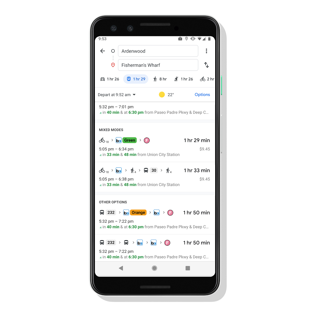 Google Maps can help you with the last mile of your daily commute