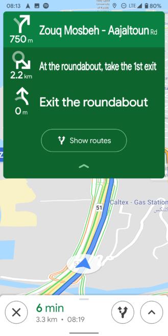 Google Maps details upcoming navigation turns in refreshed UI [APK