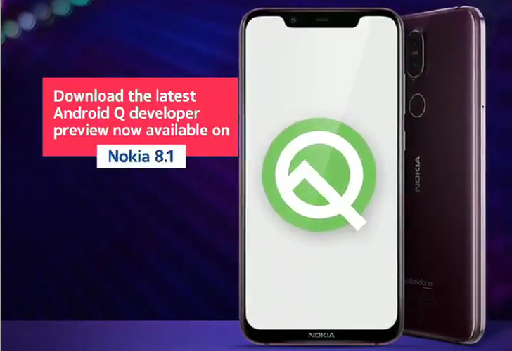 Nokia 8 1 Android Q Beta 5 adds corner swipe gesture for Google