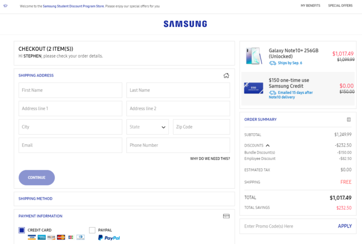 Galaxy Note10 student discount: Get 7 5% off Samsung's new Notes